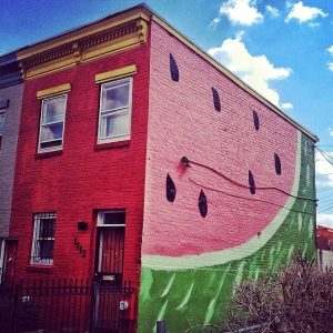 Apartment Building In D.C. Painted As A Watermelon