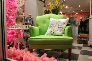 Vintage Furniture Shop In D.C. Featuring Green Chair