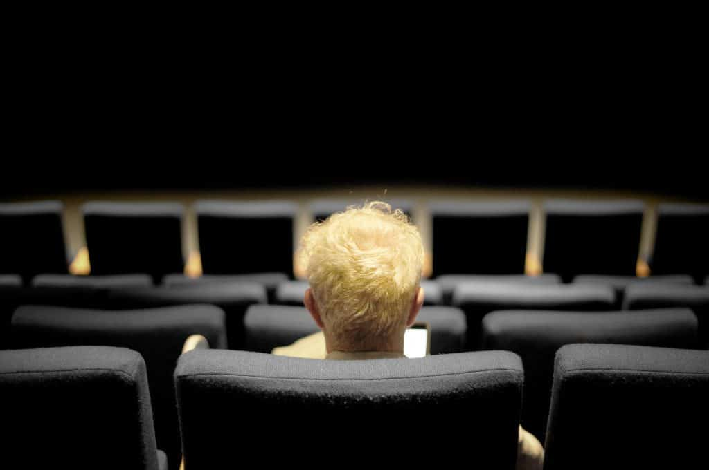 Man Sitting In Theater In D.C. Film Festival