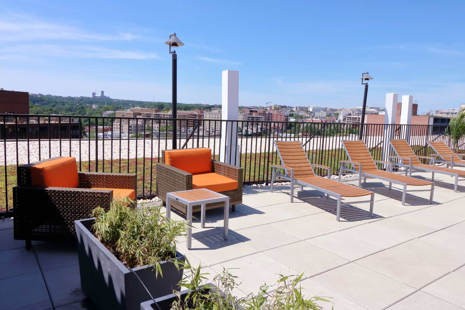 Hamilton House Rooftop Patio With Lounge Chairs