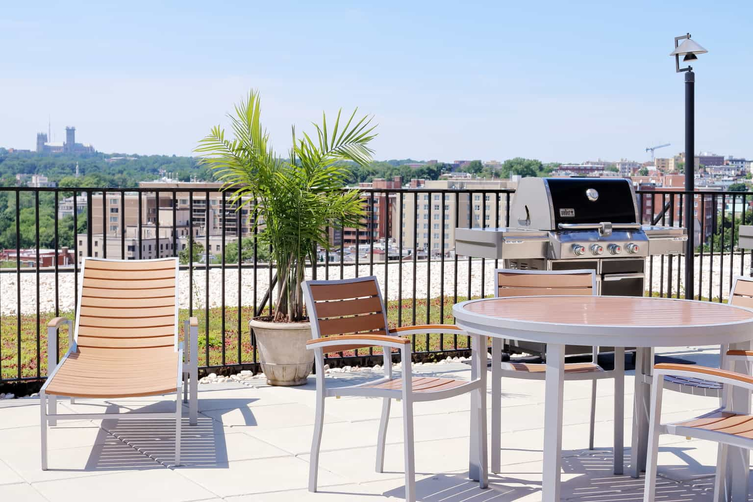 Hamilton House Roof Top Patio With Grill
