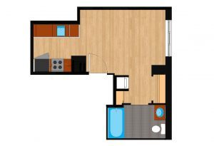 The-Drake-Unit-201-floor-plan-300x205