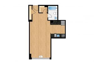 The-Park-Monroe-Unit-1009-floor-plan-300x205