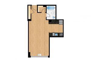 The-Park-Monroe-Unit-1009-floor-plan-300x205