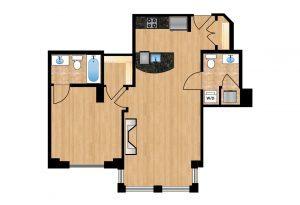 The Regent Unit 102 Apartment Floor Plan