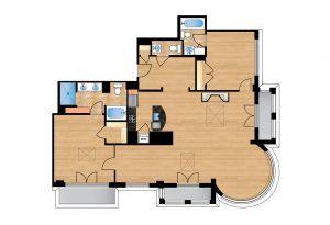 The Regent Unit 701 Apartment Floor Plan