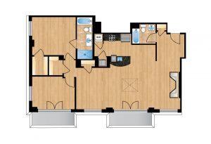 The Regent Unit 703 Apartment Floor Plan