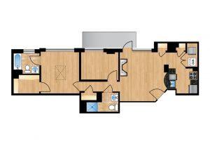 The Regent Unit 704 Apartment Floor Plan