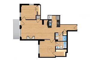 The Regent Unit 705 Apartment Floor Plan