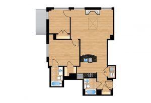 The Regent Unit 706 Apartment Floor Plan