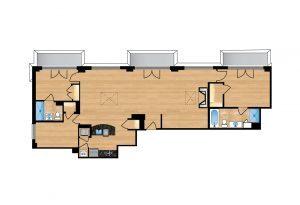 The Regent Unit 707 Apartment Floor Plan