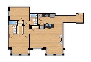 The Regent Unit 203-603 Apartment Floor Plan