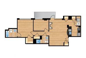 The Regent Unit 204-604 Apartment Floor Plan