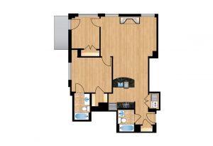 The Regent Unit 206-606 Apartment Floor Plan