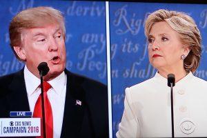 Donald Trump Debating Hillary Clinton