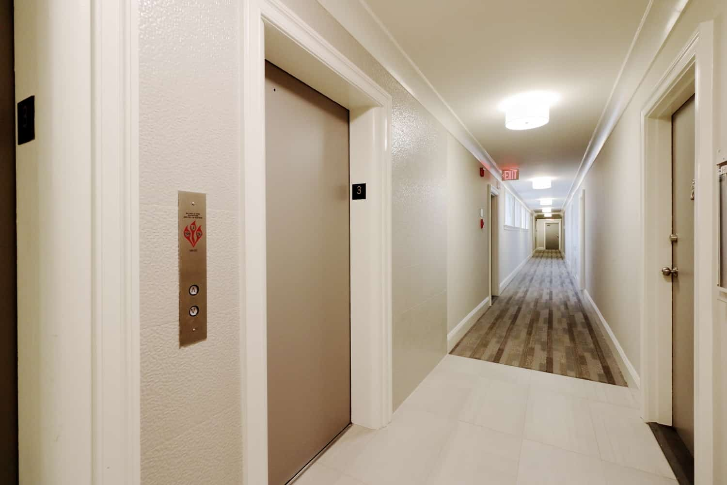 M Street Tower Apartment Building Hallway