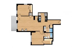 The Regent Unit 105-605 Apartment Floor Plan