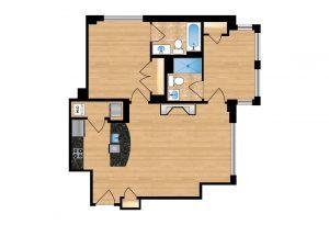 The Regent Unit 207-607 Apartment Floor Plan