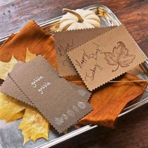 DIY Thanksgiving Day Cards