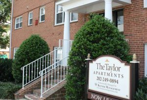 Front Of The Taylor Apartment Building