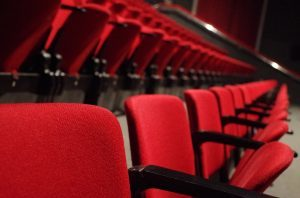 Row Of Theatre Red Chairs