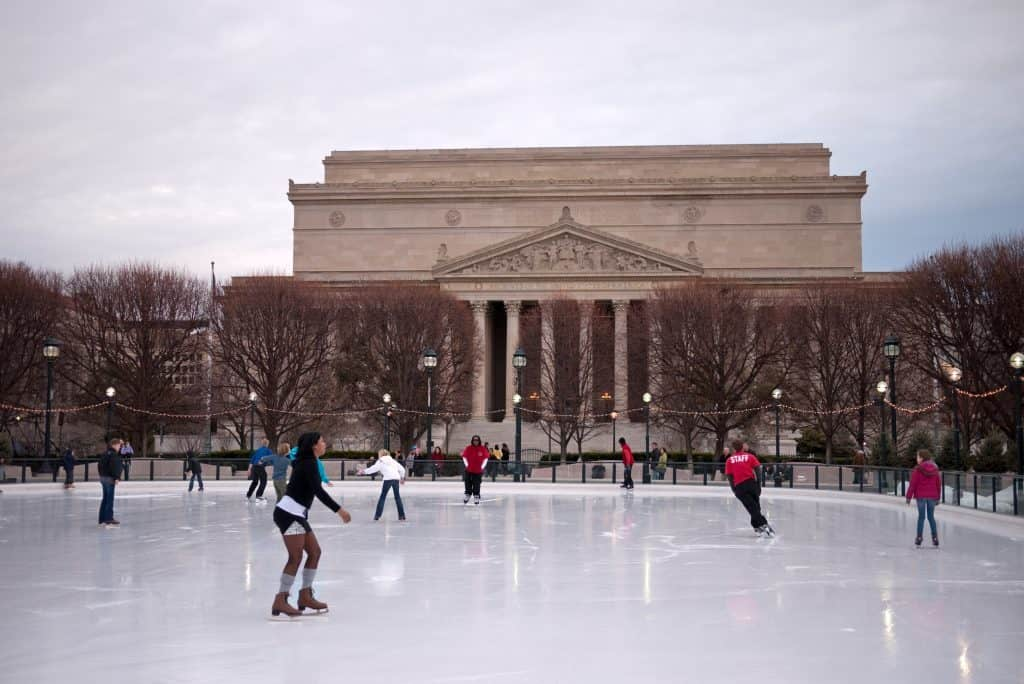 People Skating On A D.C. Restaurant