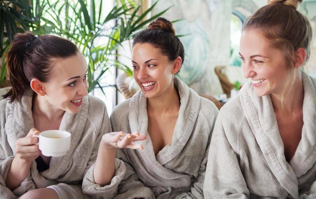 3 Women Enjoying Logan Circle's Best Luxury Spa