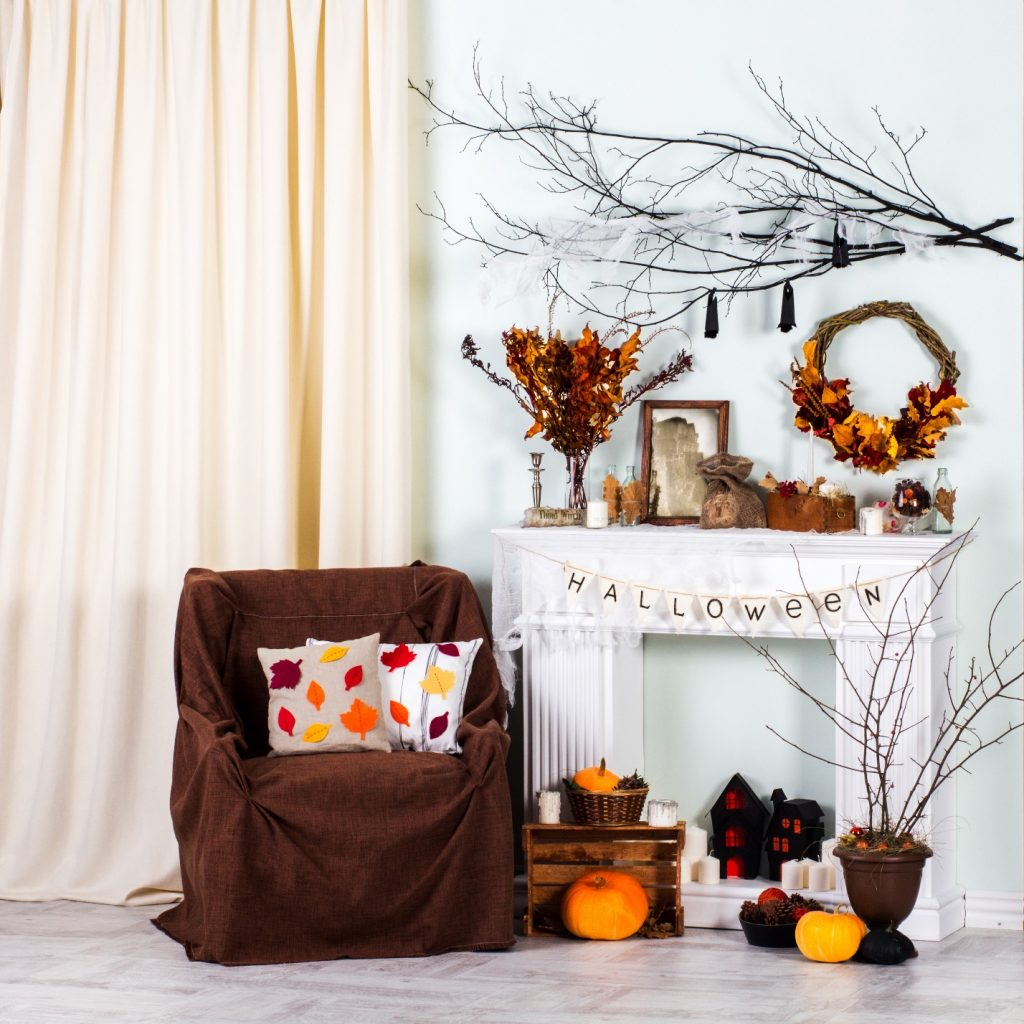 indoor Halloween decorating