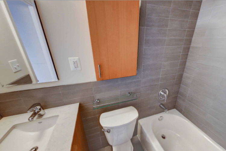 The Sutton Plaza Apartment Bathroom