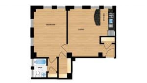 Windermere Harrowgate H102 - H802 Apartment Floor Plan