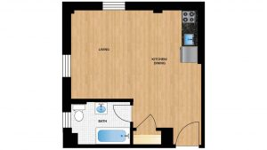 Windermere Harrowgate H107 - H807 Apartment Floor Plan
