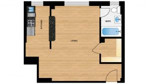 Windermere Harrowgate H105 - H805 Apartment Floor Plan