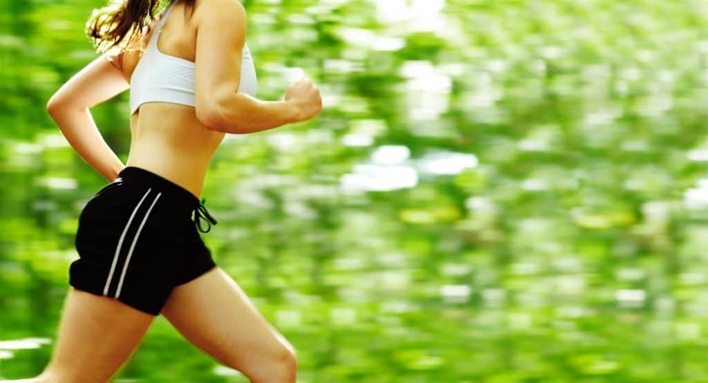 Woman Jogging and Running