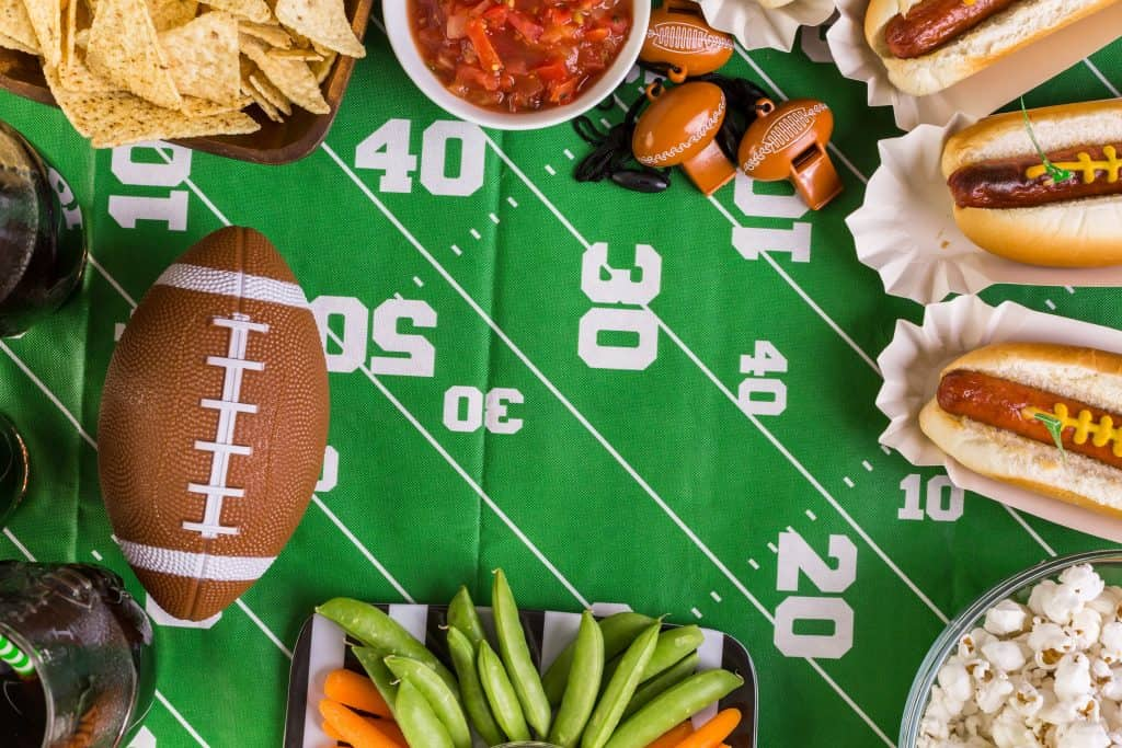 Football Watch Party Decor and Food
