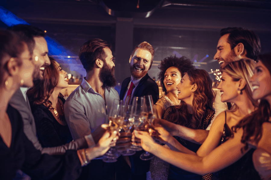 People Having Fun at a Bar Event